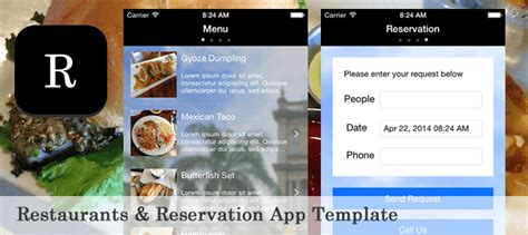 buy restaurant app template food drink and business for