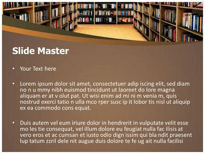 powerpoint design library library bookshelf powerpoint template background