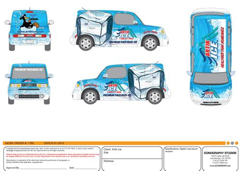 Custom Vehicle Wrap Design For Nissan Cube Wrap Design Template