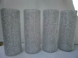 Tall Clear Plastic Vases For Centerpieces Set Of 10 9 Tall Cylinder Rhinestone Vase Bouquet
