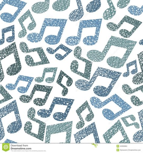 pattern in nature notes music theme seamless pattern with notes stock vector