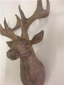 stags head home decor new rustic wall mounted brown antique look stags head home