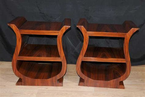 pair deco bedside tables nightstands bookshelf cabinet
