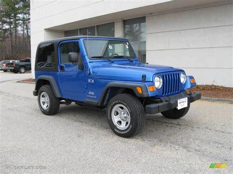 Blue Jeep Tj 2003 Blue Pearl Jeep Wrangler X 4x4 6911656