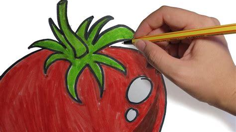 imagenes de verduras para dibujar a lapiz como dibujar frutas y verduras tomate facil paso a paso