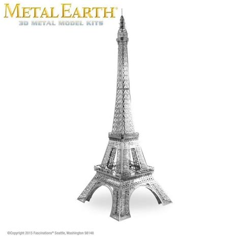 Miniatur Model Kit 3d Fascinations Metal Earth Eiffel Tower metal earth eiffel tower laser cut 3d model mms016