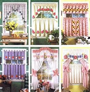 Kitchen Curtain Sewing Patterns Simplicity 8924 Sewing Pattern Valance Swags Cafe Curtains Curtain Panels Tabs Home