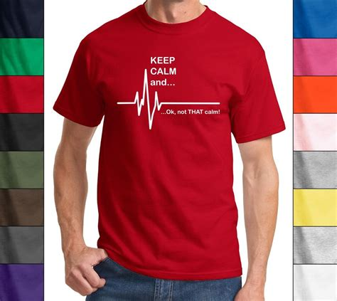 Tshirt Kaos Uber Tshirt Country keep calm and not that calm ekg rate