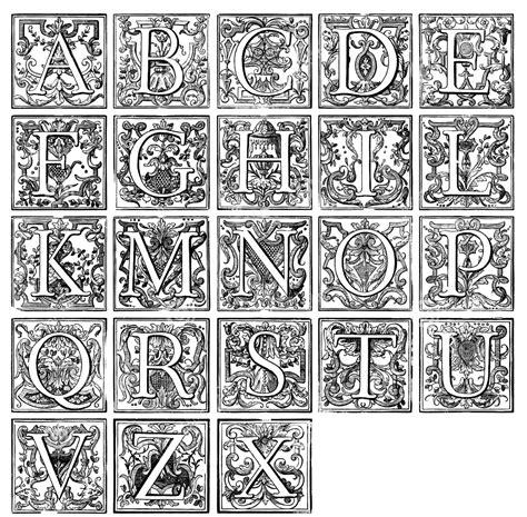 Alphabet Vintage Vintage Coloriages Difficiles Pour