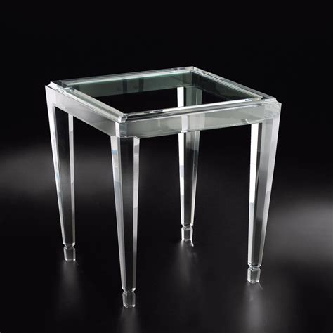 Acrylic Accent Table Acrylic End Tables Allan Knightacrylic End And Occasional Tables Gold Palm End Allan