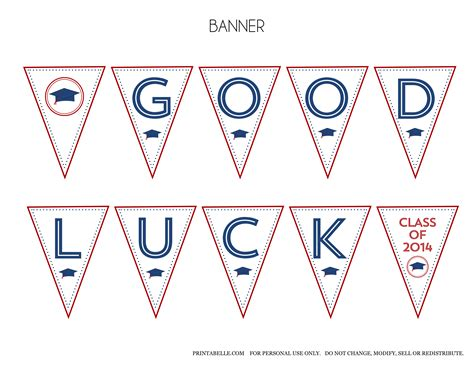 luck banner template free 2014 graduation printables from printabelle catch my