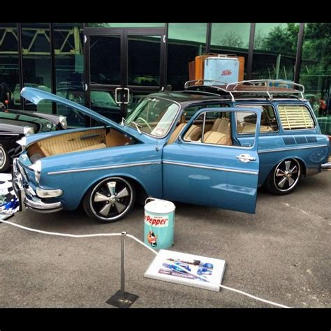 Vw Blue Squareback Car Photography Pinterest