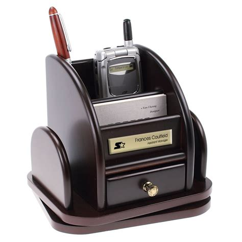 rotating desk organizer personalized rosewood rotating desktop organizer