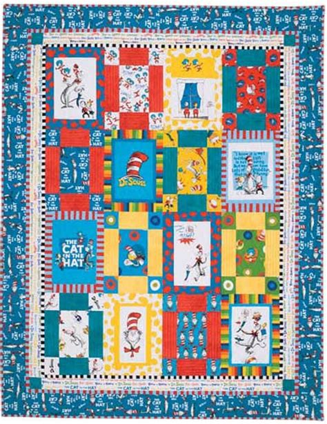 Dr Seuss Quilt Pattern Free by Quilt Pattern Dr Seuss Cat In The Hat Pdf Pattern