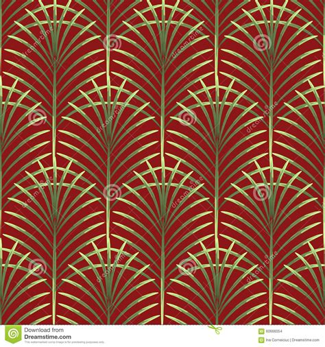 seamless leaf pattern vector palm leaves vector seamless pattern stock vector image