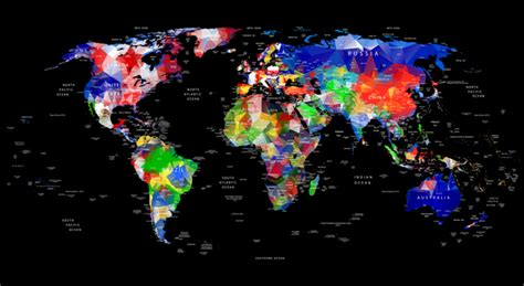 world map city names geometric design world map with country and city names