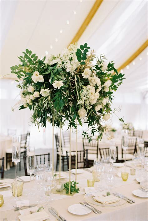 Greenery For Wedding Centerpieces Tall Centerpiece With Greenery Elizabeth Anne Designs