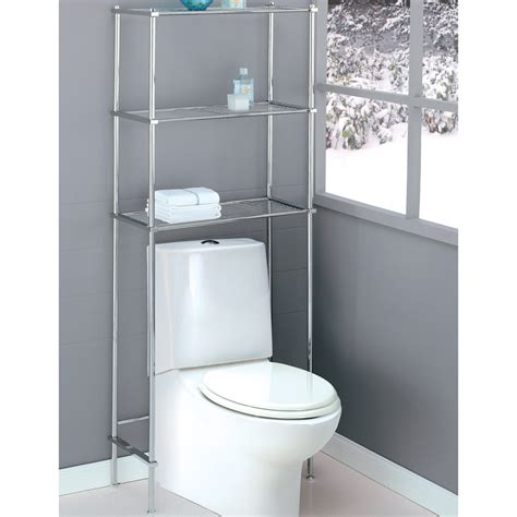 Stainless Steel Three Shelves Over The Toilet Storage Rack Bathroom Storage Toilet