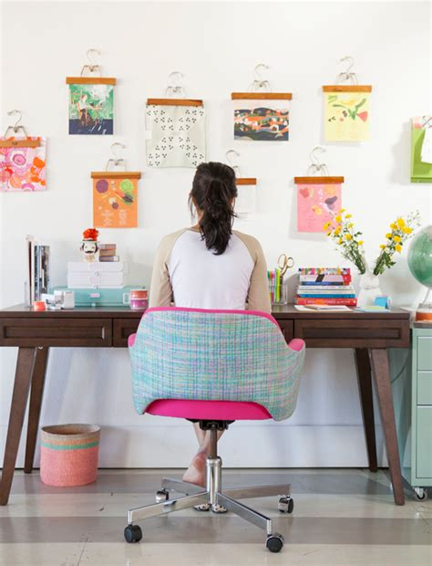 how to decorate your desk at home home office inspiration oh joy s one desk two ways