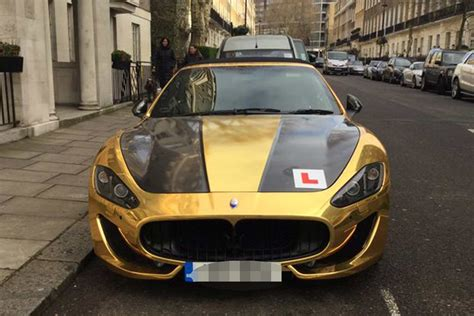 black and gold maserati gold maserati worth 163 90k spotted in complete