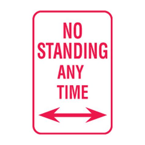 no standing any time double arrow sign