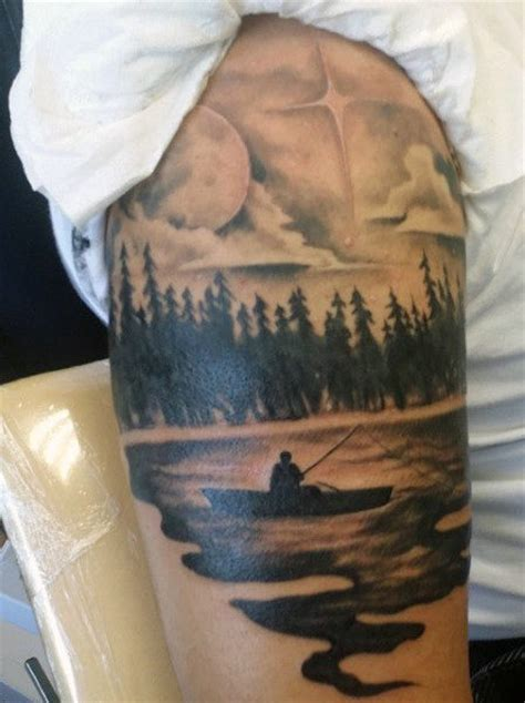 dude tattoo 75 fishing tattoos for reel in manly design ideas