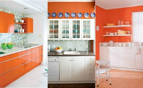 Good Room Colors orange kitchen design ideas home interior design