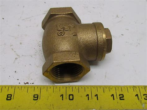 brass swing check valve rwvc 1 quot npt brass swing check valve tee fitting 300wog ebay
