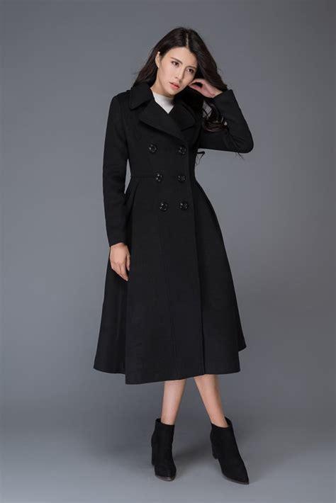 Baju Wanita Jaket Outerwear Vest J167 black wool coat winter wool coat black wool coat wool