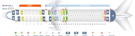 boeing 757 200 seats seat map boeing 757 200 delta airlines best seats in plane
