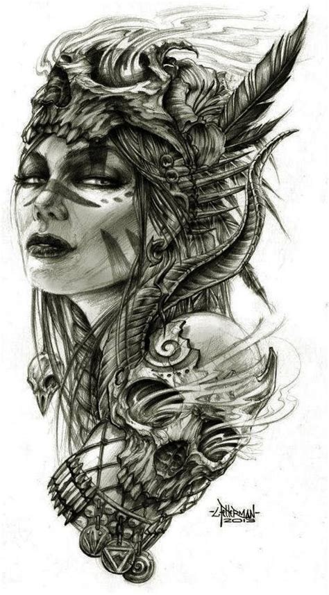 lady warrior tattoo designs design designs