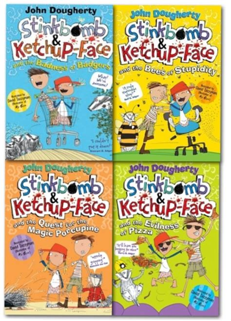 stinkbomb and ketchup and the badness of badgers books stinkbomb and ketchupface collection dougherty 4