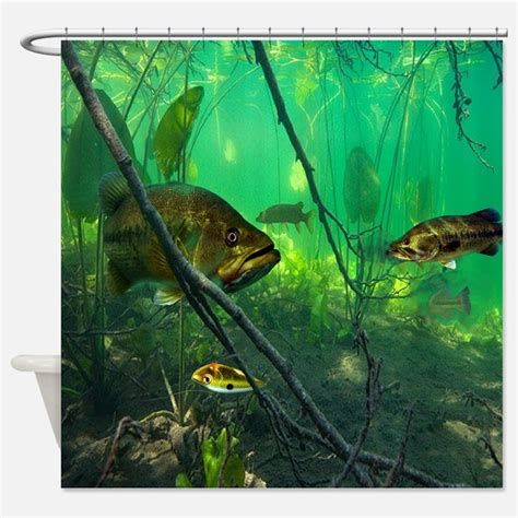 bass fishing shower curtain bass shower curtains bass fabric shower curtain liner