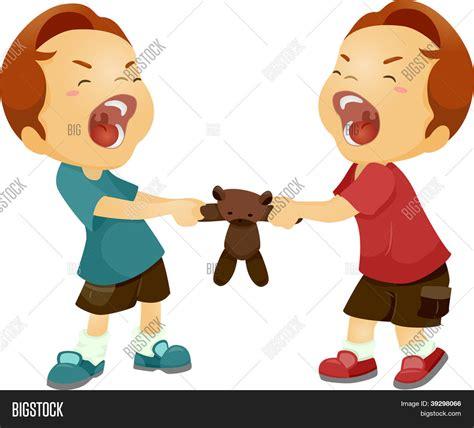 imagenes niños peleando vector y foto ilustraci 243 n de gemelos peleando bigstock