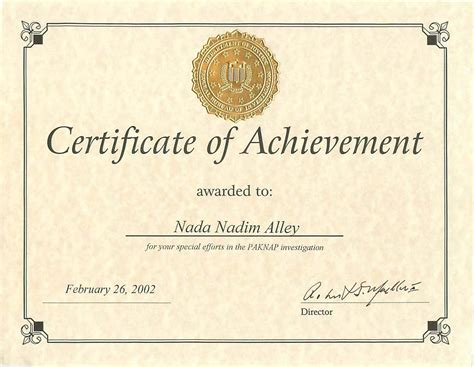 certification letter of accomplishment army certificate of achievement template desktop support