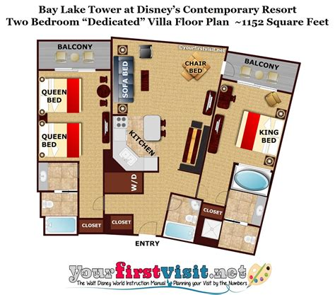 bay lake tower two bedroom villa floor plan disney bay lake tower 3 bedroom grand villa bedroom ideas