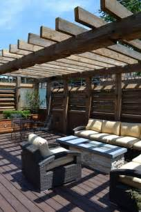 Barn Wood Pergola by Lovable Patio Deck With Pergola From Reclaimed Barn Wood