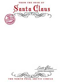 Santa Claus Letter Template best photos of letter from santa stationary template blank letters from santa claus template