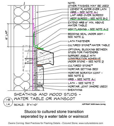cultured water table j weep for exterior cultured veneer wall