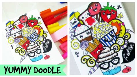 how to use favorite doodle lets doodle food doodle kawaii