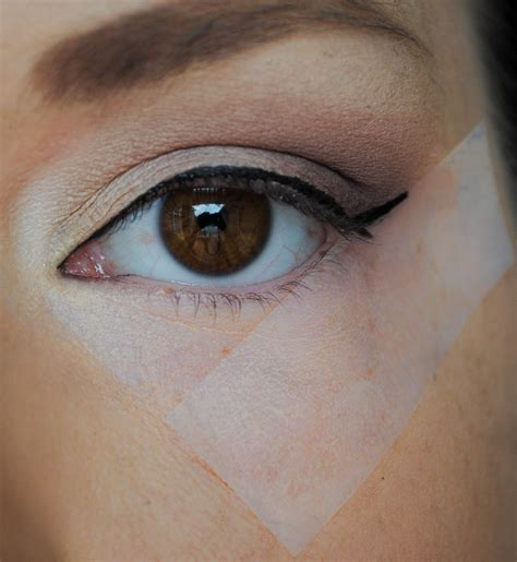 eyeliner tutorial with tape tape trick for perfect winged liner