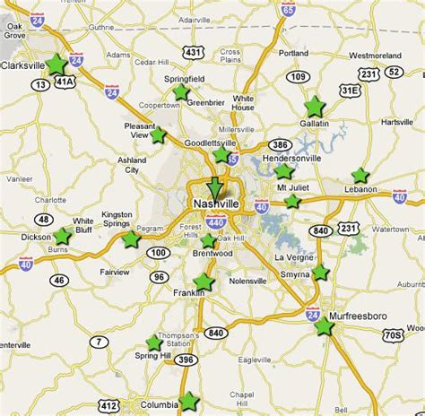 map of nashville area nashville and middle tennessee suburbs choosing a
