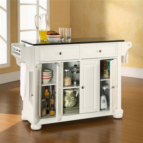 alexandria kitchen island crosley furniture alexandria solid black granite top
