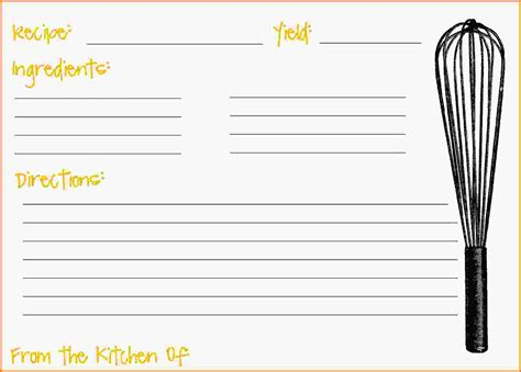 free recipe cards template free recipe card templates