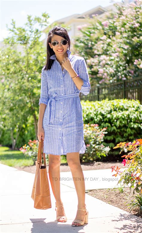 Summer Shirt Pink In The Garden 08 to brighten my day a shirtdress raffia heels