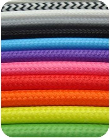 texflex electrical cabling coloured textile cable cord