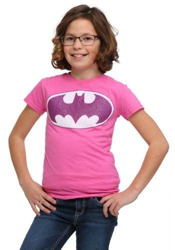 Bubblechats Pink Batman T Shirt pink batman glitter logo t shirt