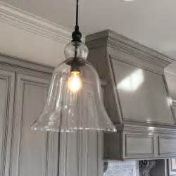 large glass bell pendant light kitchen inspiration