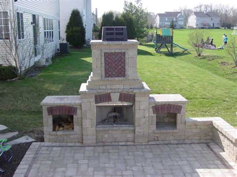 Unilock Tuscany Fireplace mchenry unilock pit bbq lake county il bluestone fireplaces