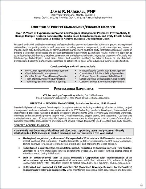 program manager resume summary project management strong resume summary statements